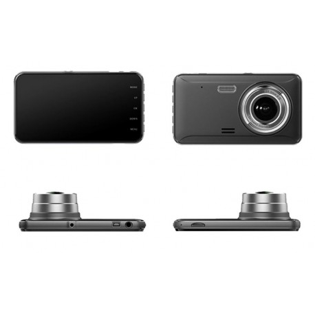 "CAMERA VIDEO AUTO DVR DUBLA FULLHD TECHSTAR® A17 UNGHI 170° DISPLAY 4"", SENZORI MISCARE SI NIGHT VISION"