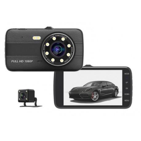CAMERA VIDEO AUTO NOVATEK T800 DUBLA 8 LED-URI INFRAROSU FULL HD - resigilat / nefolosit
