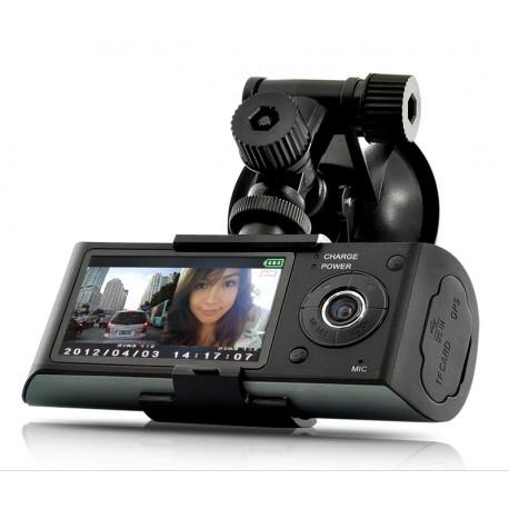 CAMERA VIDEO AUTO SW R300 DUAL-CAM CU GPS LOGGER