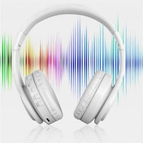 CASTI BLUETOOTH WIRELESS W802 ALB OVER EAR PLIABILE SPORT CU MICROFON INCORPORAT 3