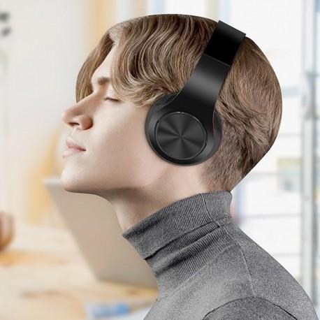 CASTI BLUETOOTH WIRELESS W802 NEGRU OVER EAR PLIABILE SPORT CU MICROFON INCORPORAT
